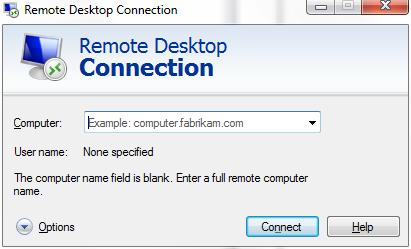 Remote Desktop Connection (Terminal Services Client 6.0 ...