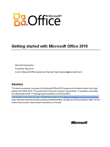 microsoft office 2010 study guide free download