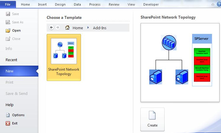 Release Visio 2010 Sharepoint Network Topology Diagram Add In