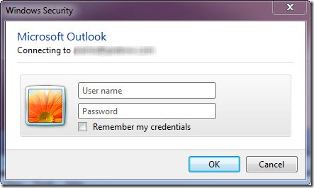 HOWTO: Prevent Outlook from asking you for login credentials upon