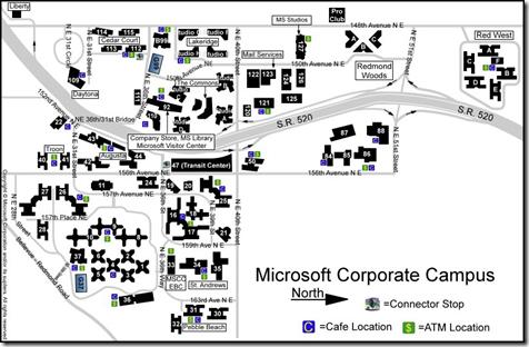INFO: Map of Microsoft's Corporate Campus – Redmond, WA | Kurt