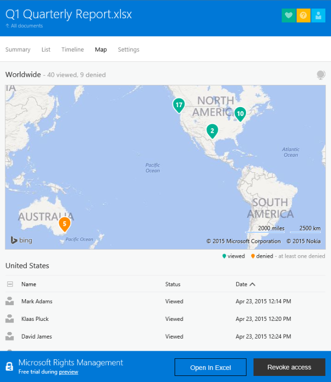 Beta azure rms document tracking revocation public - Rights management services office 365 ...