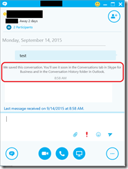 how to delete conversations on skype for business