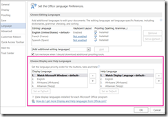 INFO: Using multiple languages with Office 365 Pro Plus | Kurt