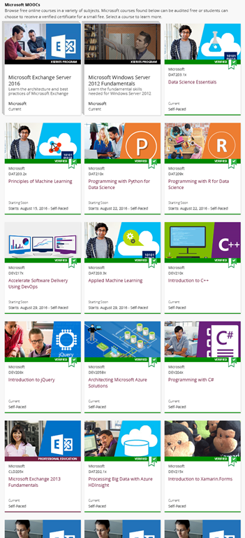 TRAINING: Free online technical training courses from