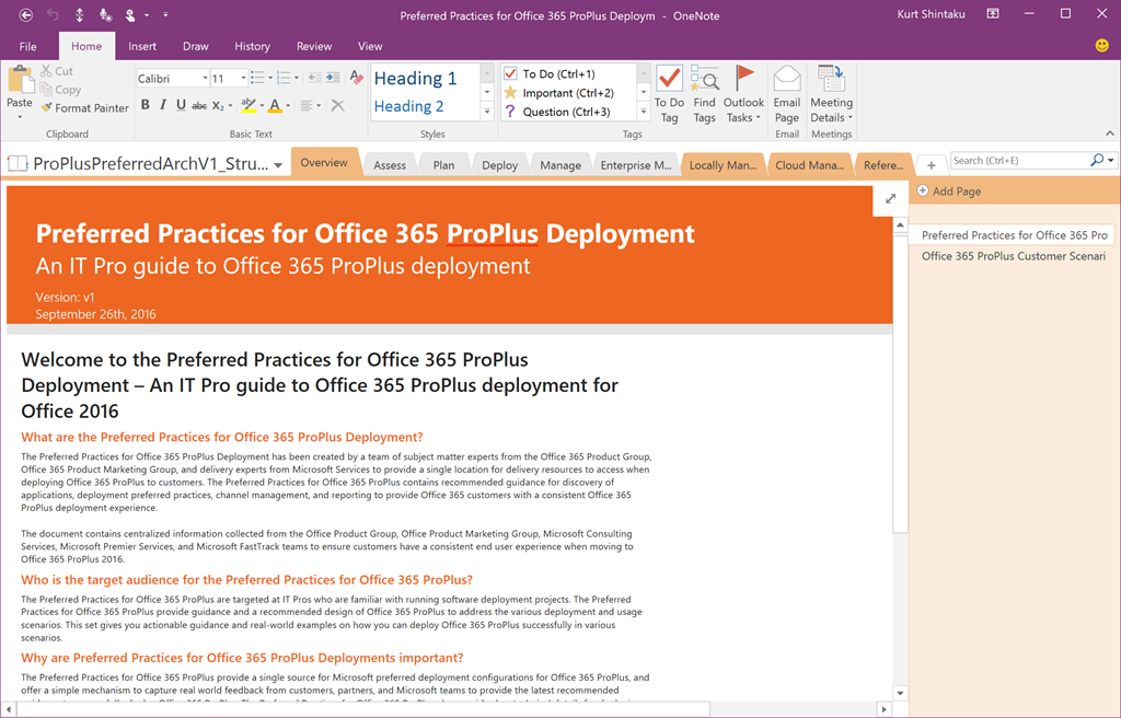 DOWNLOAD: Preferred Practices Guide for Office 365 ProPlus