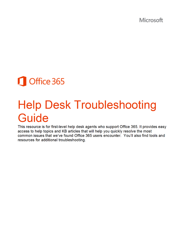 whitepaper: office 365 help desk troubleshooting guide | kurt