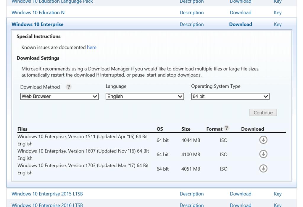 download windows 10 1703 iso 64 bit