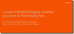 TRAINING: Microsoft InfoPath/Designer to PowerApps/Flow