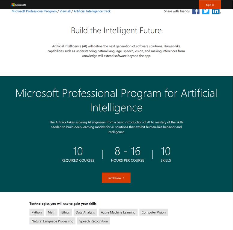 Training Free Artificial Intelligence Professional Training