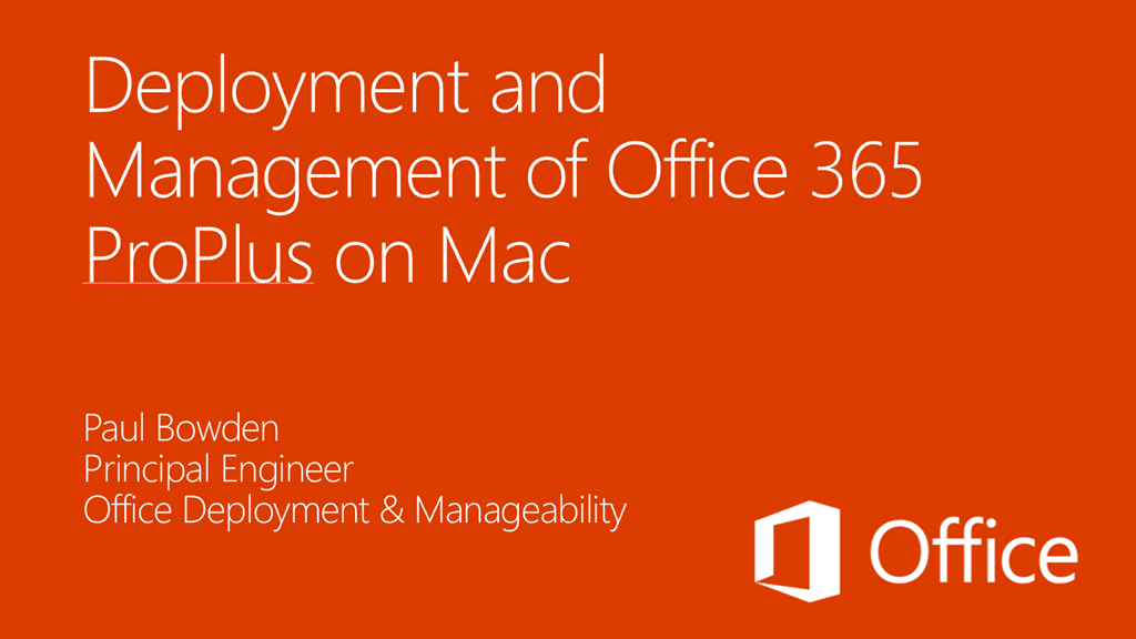 DOWNLOAD: Deployment & Management of Office 365 ProPlus on